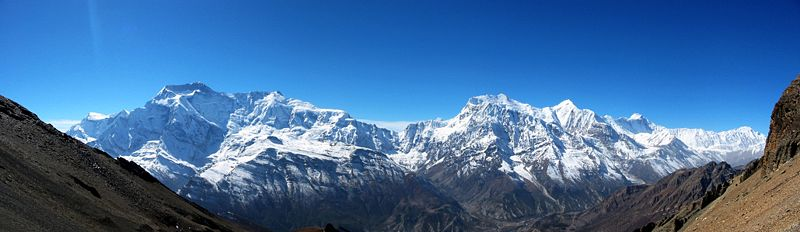 the-annapurna-himal-from-the-northeast-left-to-right-annapurna-ii-and-iv-close-together-a-major-col-annapurna-iii-and-gangapurna-annapurna-i