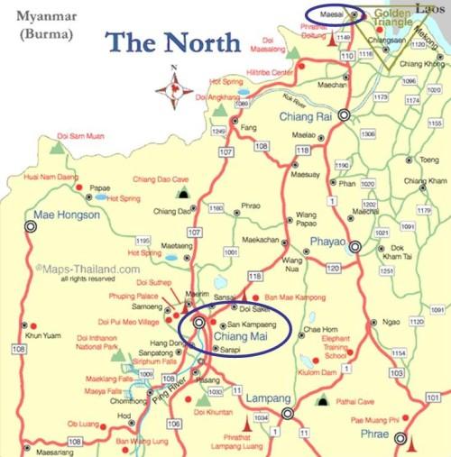 Mae Sai Map