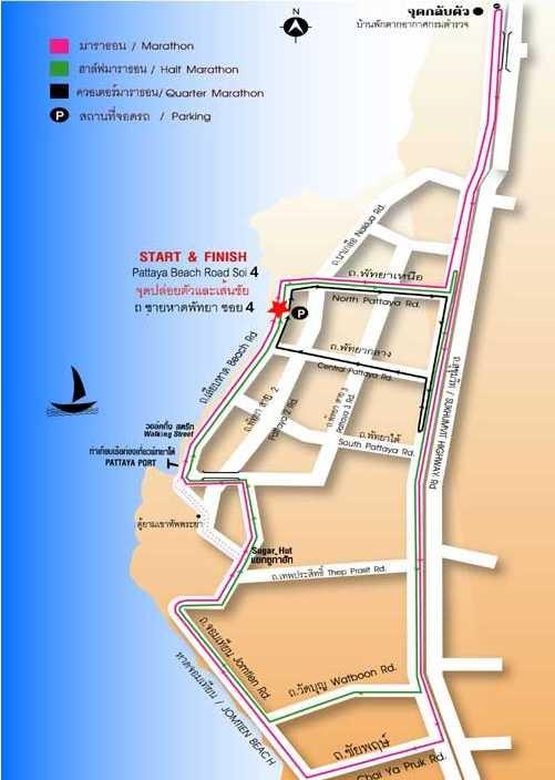 Map Pattaya course