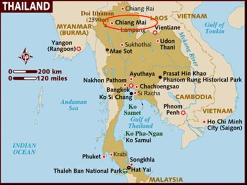 1a Map Chiang Mai