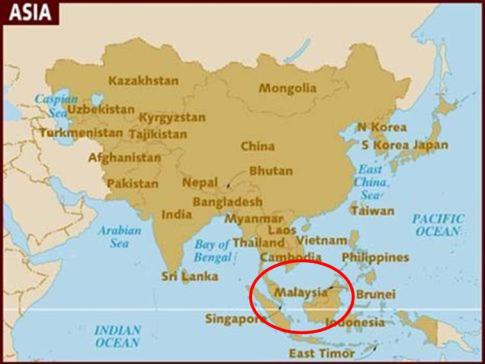 Tanjung inn cherating the daily explorer above map showing location of malaysia which is split into two parts western and eastern the peninsula above singapore and the upper section of the gumiabroncs Choice Image